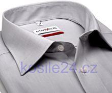 Marvelis Comfort Fit Chambray – svetlosivá košeľa