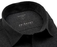 Olymp Modern Fit 24/Seven – antracitová elastická košeľa