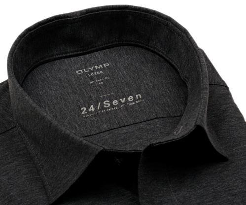 Olymp Modern Fit 24/Seven – antracitová elastická košile