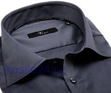 Venti Slim Fit Twill – antracitová košile