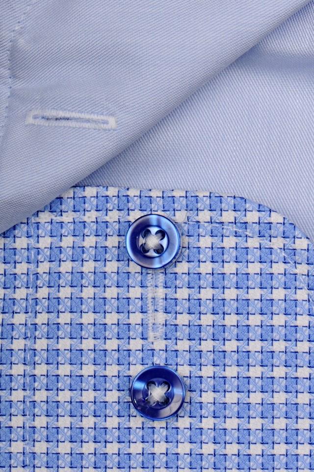 8905bf4c26d3 Casa Moda Modern Fit Premium – luxusní světle modrá košile s vetkaným  vzorem a vnitřním límcem