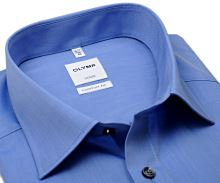 Olymp Luxor Comfort Fit Chambray - modrá košeľa - krátky rukáv