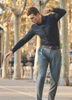 Olymp Level Five 24/Seven – tmavomodrá elastická košile