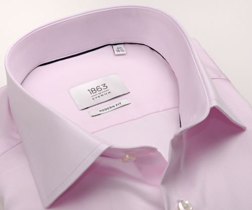 Eterna 1863 Modern Fit Twill - luxusní růžová košile