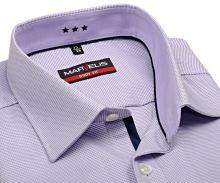 Marvelis Body Fit – košile se světle fialovým vetkaným vzorem s vnitřním límcem a légou