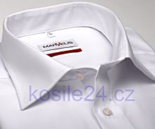 Marvelis  Comfort Fit Uni - biela košeľa - krátky rukáv