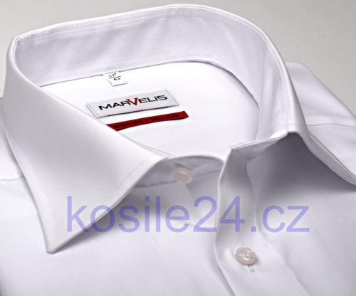 Marvelis Comfort Fit Uni - bílá košile – prodloužený rukáv