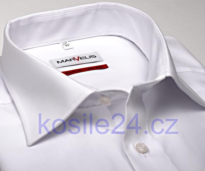 bc122a060342 Marvelis Comfort Fit Uni - biela košeľa - krátky rukáv