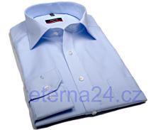 Eterna Modern Fit Uni Popeline - světle modrá košile s kapsičkou