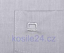 Olymp Luxor Comfort Fit Chambray - svetošedá košeľa