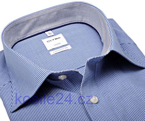Olymp Luxor Comfort Fit – košeľa s tmavomodrým minikárom s vnútorným golierom a manžetou