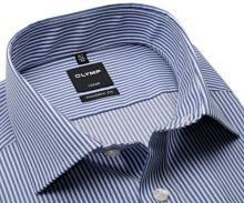 Olymp Modern Fit Twill – košeľa s tmavomodrým prúžkom