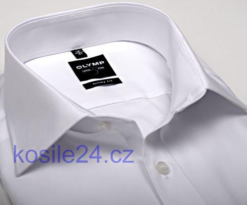 Olymp Level Five – biela košeľa - krátky rukáv
