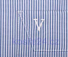 Marvelis Modern Fit - biela košeľa so svetlomodrým prúžkom