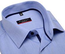 Eterna Modern Fit - světle modrá s vetkaným vzorem - krátký rukáv