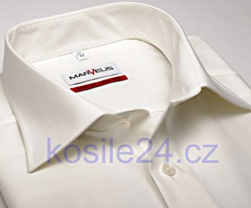 Marvelis Modern Fit Uni - champagne košile - krátký rukáv