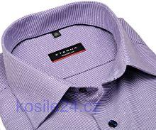 Eterna Modern Fit – fialová košeľa s votkaným vzorom - predĺžený rukáv