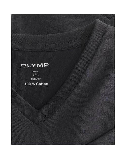 89f44f44706a Čierne bavlnené tričko Olymp s krátkym rukávom – V-výstrih (2 ks)