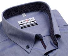 Marvelis Comfort Fit – košile s modro-bílým rastrováním, vnitřním límcem a légou