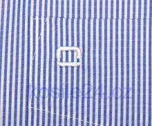 Olymp Luxor Modern Fit - úzký indigově modrý proužek