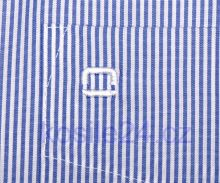 Olymp Luxor Modern Fit - úzky indigovo modrý prúžok