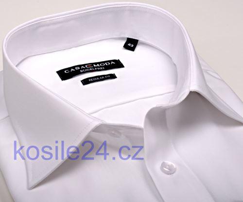 Bílá pánská košile Casa Moda Comfort Fit Chambray - krátký rukáv