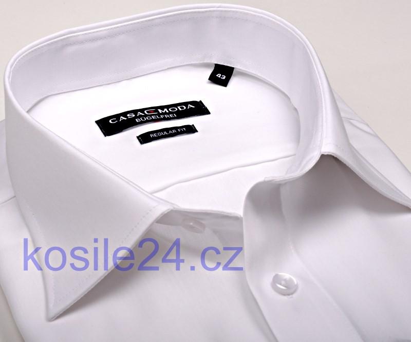 82ee9d189b7 Bílá pánská košile Casa Moda Comfort Fit Chambray - krátký rukáv