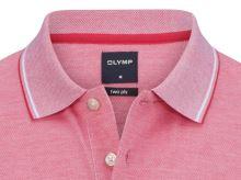 Polo tričko Olymp - červené tričko s golierom a bielym rastrovaním