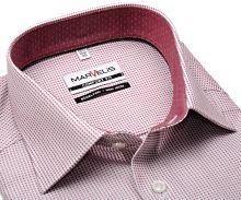 Marvelis Comfort Fit – košeľa s červenými votkanými mini odĺlžníkmi a vnútorným golierom