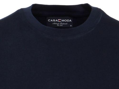 Tmavě modré tričko Casa Moda – kulatý výstřih