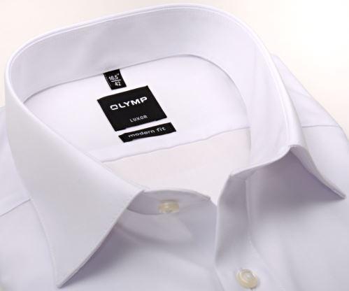 Olymp Luxor Modern Fit - bílá košile bez kapsičky
