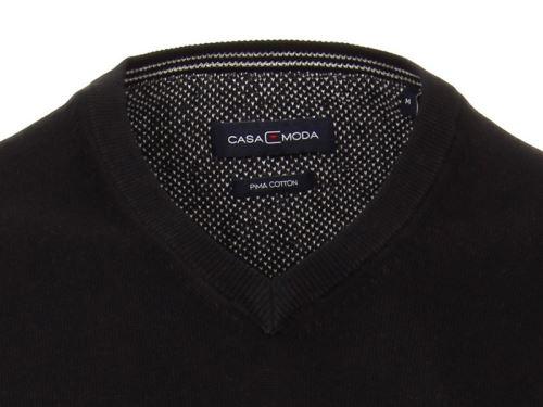 Bavlněný svetr Casa Moda – černý