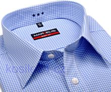 Marvelis Body Fit Uni – biela košeľa so svetlomodrým minikárom