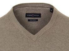 Bavlnený pulóver Casa Moda – svetlohnedý