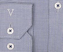 Marvelis Body Fit – košile s vetkaným modrým vzorem a vnitřním límcem