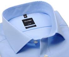 Olymp Modern Fit Twill – luxusní neprůhledná světle modrá košile s diagonální strukturou