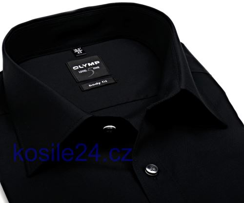 Olymp Level Five – čierna košeľa