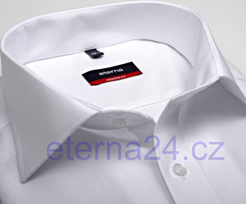 Eterna Modern Fit Uni Popeline - bílá košile bez kapsičky
