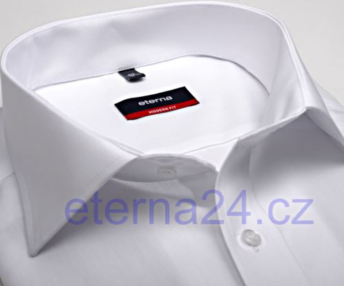 Eterna Modern Fit Uni Popeline - bílá košile s kapsičkou