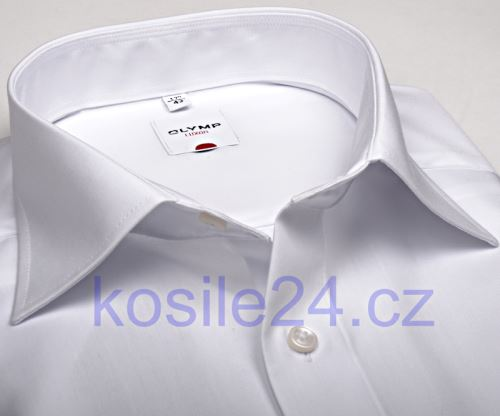 Olymp Luxor Comfort Fit - biela košeľa - krátky rukáv