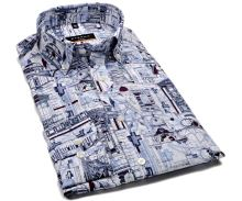 Eterna Slim Fit – luxusná dizajnová košeľa s architektonickými motívmi