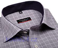 Eterna Modern Fit – károvaná košeľa s vnútorným golierom a manžetou - extra predĺžený rukáv