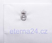 Eterna Comfort Fit Uni Popeline - biela - krátky rukáv