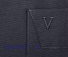 Marvelis Modern Fit Chambray – antracitová košile