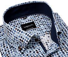 Venti Modern Fit – dizajnová košeľa s tľačenými kolečkami, vnútorným golierom a manžetou