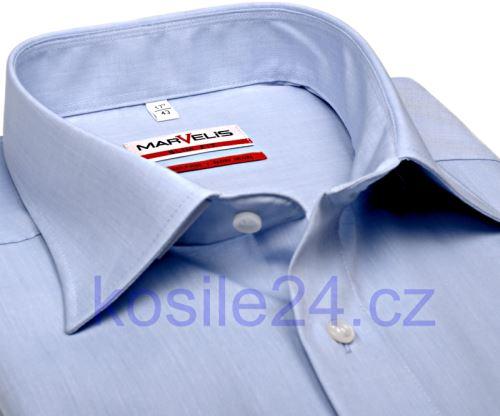 Marvelis Modern Fit Chambray – svetlomodrá košeľa - krátky rukáv