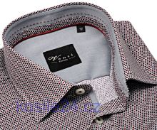 Venti Slim Fit – košeľa s farebnými krúžkami a sivým vnútorným golierom - extra predĺžený rukáv