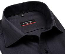 Eterna Modern Fit Twill – luxusní antracitová košile s vetkaným vzorem - prodloužený rukáv