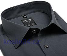 Olymp Level Five Chambray – antracitová košile - prodloužený rukáv