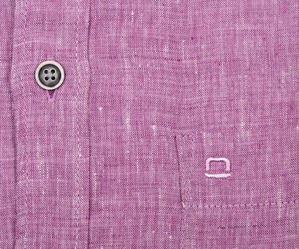 7908942f59a1 Olymp Casual Modern Fit – ľanová fialovo-ružová košeľa s vnútorným golierom  a légou -
